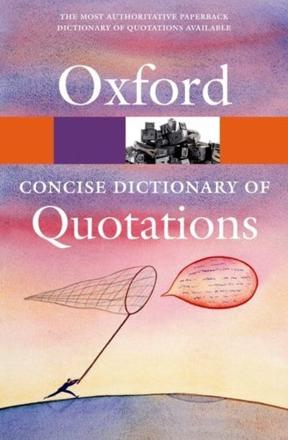ISBN: 9780199567072 - Concise Oxford Dictionary of Quotations