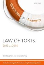 ISBN: 9780199661909 - Q & A Revision Guide Law of Torts 2013 and 2014
