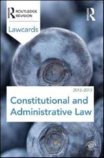 ISBN: 9780415683319 - Constitutional and Administrative Lawcards 2012-2013