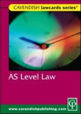 ISBN: 9781859418840 - AS Level Lawcard