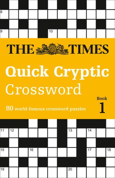 graphic regarding Cryptic Crosswords Printable titled The Instances Effortless Cryptic Crossword Ebook 1 : The Moments Head