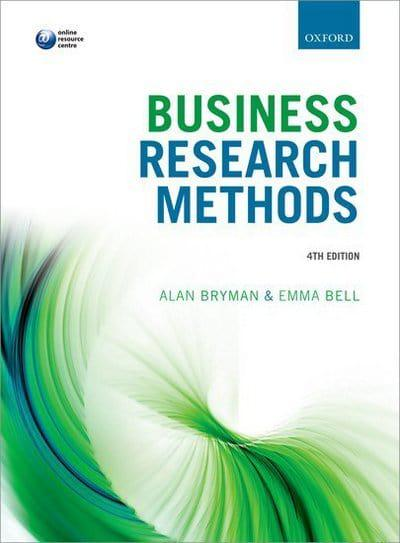 Business research methods alan bryman author 9780199668649 jacket business research methods fandeluxe Image collections