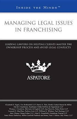 Managing Legal Issues in Franchising
