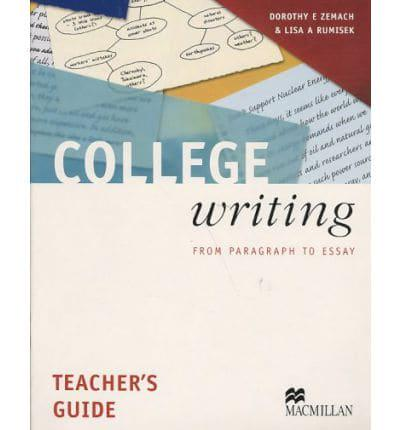 college writing from paragraph to essay dorothy e zemach & lisa a rumisek macmillan