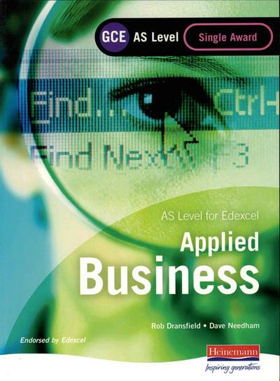 edexcel applied business coursework Information about the edexcel gcse in applied business (2009) for students and  teachers, including the specification, key documents and the latest news.