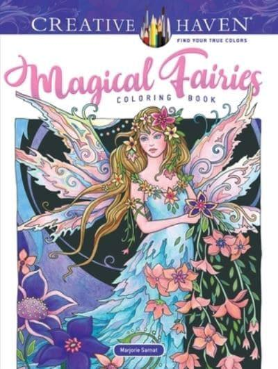 Creative Haven Magical Fairies Coloring Book Marjorie Sarnat
