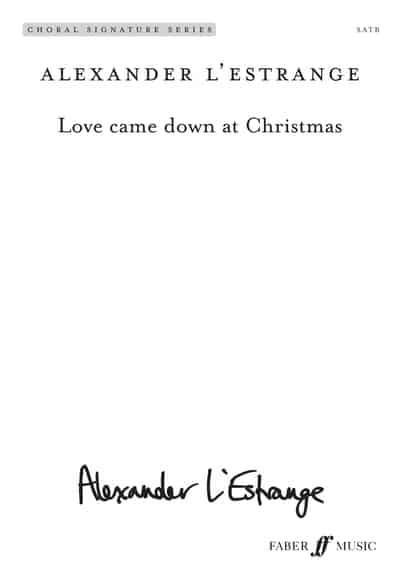 jacket love came down at christmas mixed voice choir