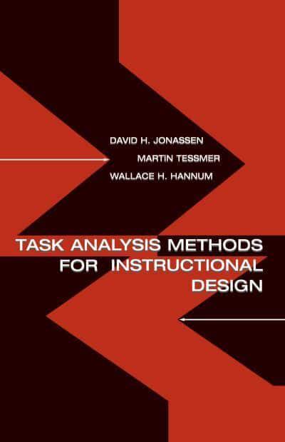 Task Analysis Methods For Instructional Design David H Jonassen 9780805830859 Blackwell S