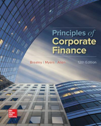 chapter 21 principles of corporate finance mini case End of chapter solutions corporate finance 8th edition and jaffe updated 11-21-2006  chapter 1 the recognition and matching principles in financial.
