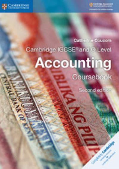 Cambridge IGCSE And O Level Accounting Catherine Coucom