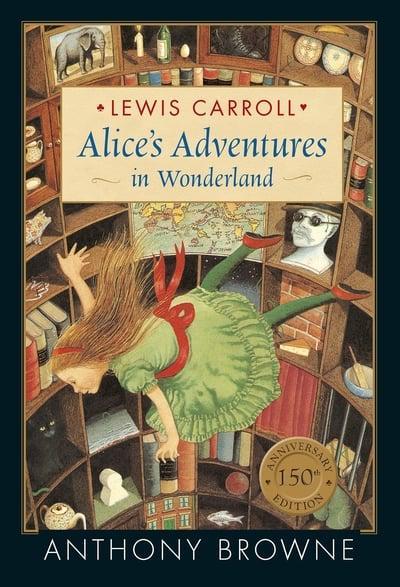 Alice's Adventures Under Ground by L Carroll 150 Anniversary New Hardcover Książki antykwaryczne