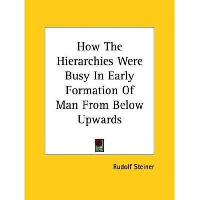 How The Hierarchies Were Busy In Early Formation Of Man From Below Upwards