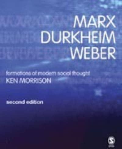 the character of a modern society from the perspective of weber marx durkheim and toennies