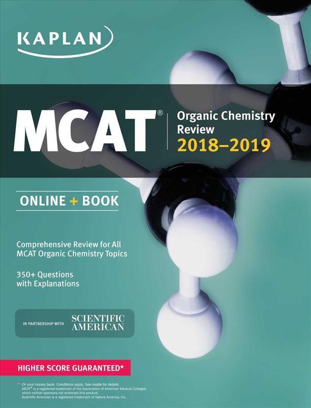 MCAT Organic Chemistry Review 2018 2019 Online Book Kaplan Test Prep
