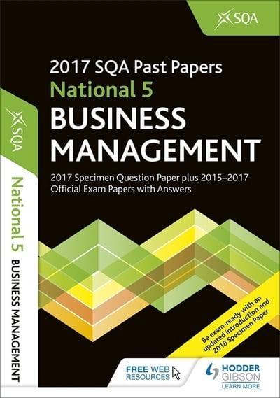 National 5 Business Management 2017-18 : SQA (author