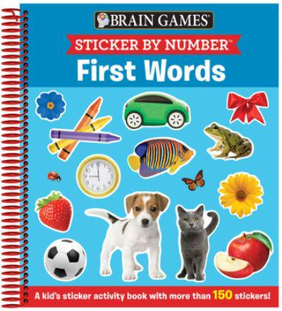 Brain Games - Sticker by Number: First Words (Ages 3 to 6)
