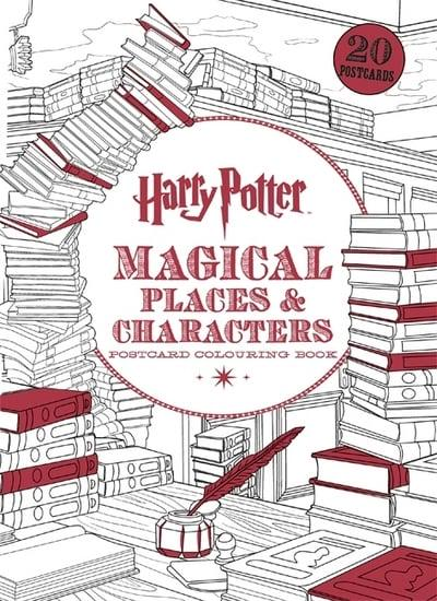 jacket, Harry Potter Magical Places & Characters Postcard Colouring Book