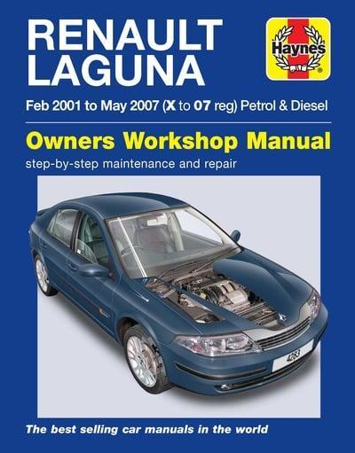 renault laguna petrol and diesel owner s workshop manual haynes rh blackwells co uk renault laguna 2 workshop manual renault laguna 2 2003 manual