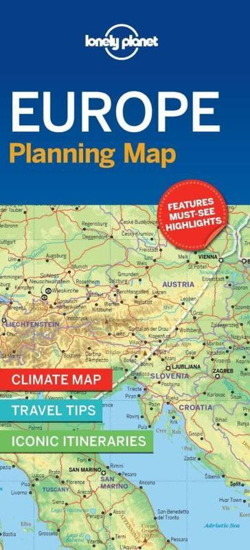 Lonely Planet Europe Planning Map Lonely Planet - Portugal map lonely planet