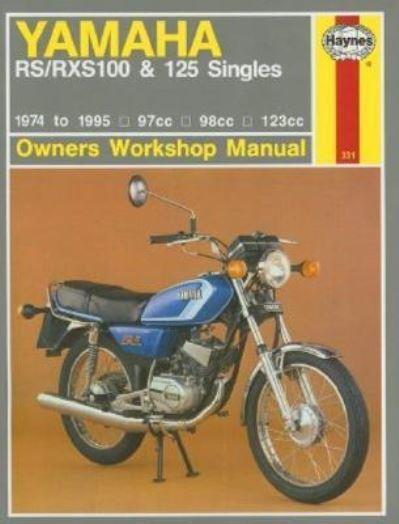 Yamaha rs rsx100 and 125 singles owner 39 s workshop manual for Yamaha rx a660 manual