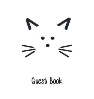 Cat Guest Book, Guests Comments, B&B, Visitors Book, Vacation Home Guest Book, Beach House Guest Book, Comments Book, Visitor Book, Holiday Home, Retreat Centres, Family Holiday Guest Book (Hardback)