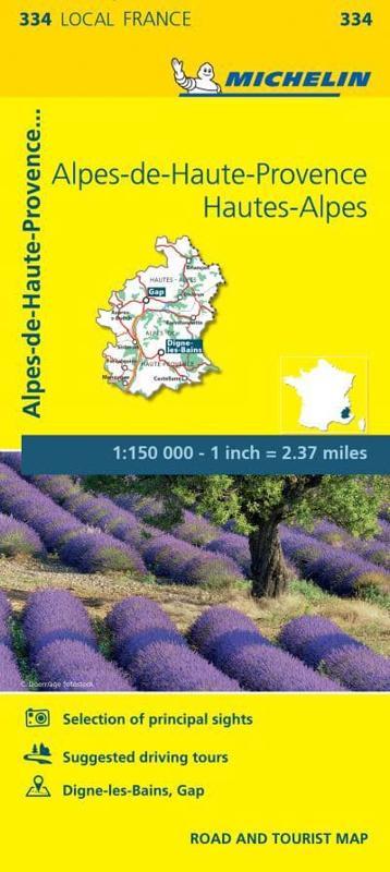 AlpesdeHauteProvence HautesAlpes Michelin Local Map 334