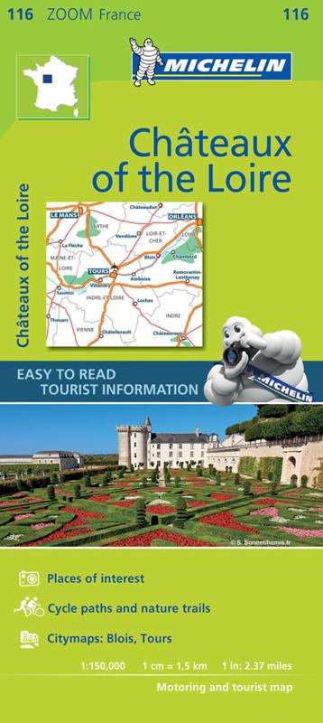 Zoom In Map Of Uk.Chateaux Of The Loire Zoom Map 116 Michelin Travel Publications