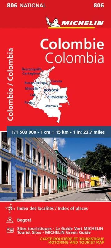 Colombia - Michelin National Map 806