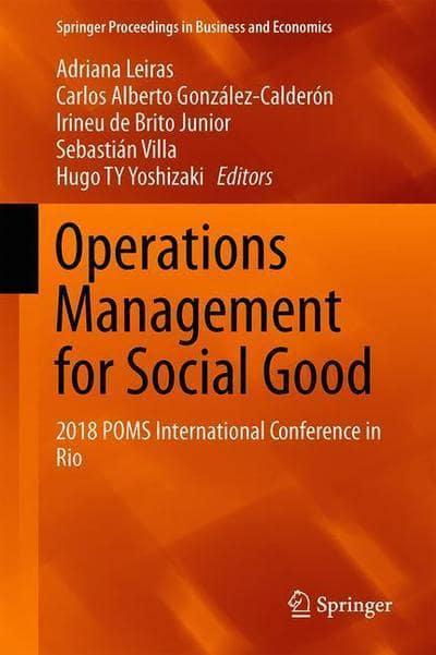 Operations Management for Social Good