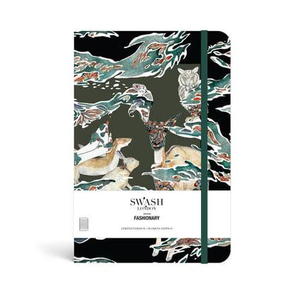 Swash London X Fashionary Candy Camo Ruled Notebook A5