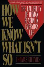 ISBN: 9780029117064 - How We Know What isn't So