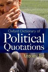 ISBN: 9780192806161 - Oxford Dictionary of Political Quotations