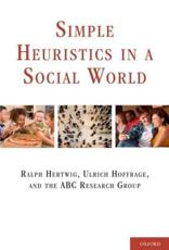 ISBN: 9780195388435 - Simple Heuristics in a Social World