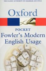 ISBN: 9780199232581 - Pocket Fowler's Modern English Usage