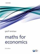 Maths for economics geoff renshaw