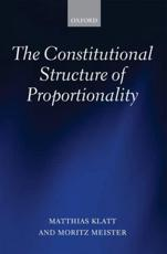 ISBN: 9780199662463 - The Constitutional Structure of Proportionality