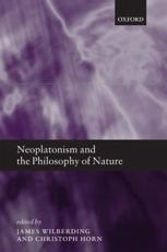 ISBN: 9780199693719 - Neoplatonism and the Philosophy of Nature