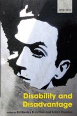 ISBN: 9780199698417 - Disability and Disadvantage