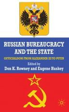 ISBN: 9780230228849 - Russian Bureaucracy and the State