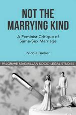 ISBN: 9780230299825 - Not the Marrying Kind