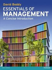 ISBN: 9780273739289 - Essentials of Management