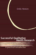 Successful Qualitative Health Research