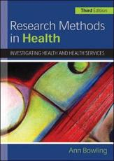 ISBN: 9780335233649 - Research Methods in Health