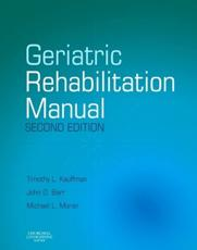 Geriatric Rehabilitation Manual
