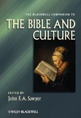 ISBN: 9780470674888 - The Blackwell Companion to the Bible and Culture