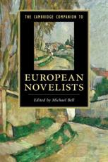 ISBN: 9780521735698 - The Cambridge Companion to European Novelists