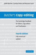 ISBN: 9780521847131 - Butcher's Copy-editing