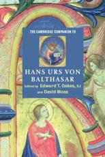 ISBN: 9780521891479 - The Cambridge Companion to Hans Urs von Balthasar