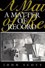 ISBN: 9780745600703 - A Matter of Record
