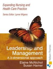 Expanding Nursing and Health Care Leadership and Management